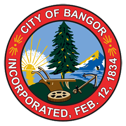 city of bangor maine incorporated, feb. 12, 1834 logo